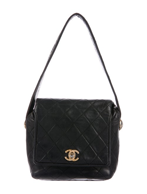 Chanel Vintage Quilted Mini Flap Bag Black