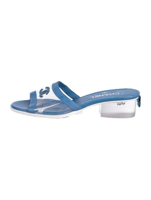 Chanel 2019 CC PVC Sandals Clear