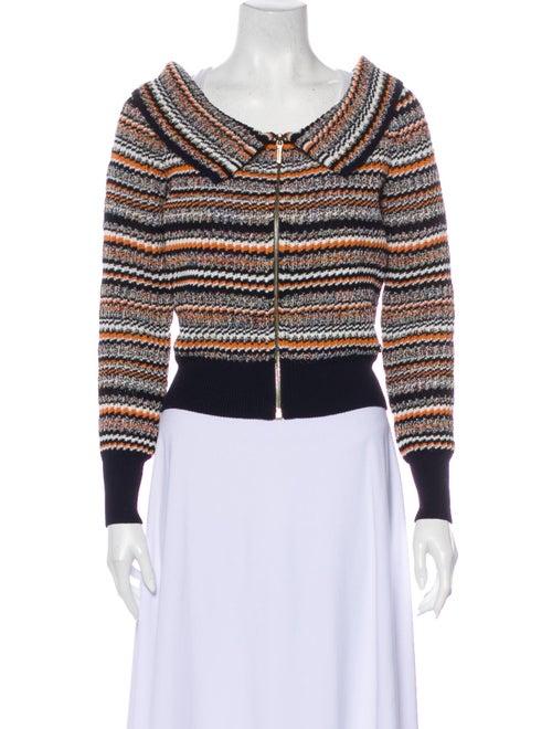 Chanel 2017 Striped Sweater Blue