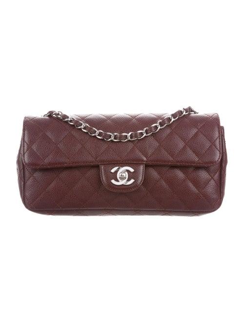 Chanel Classic E/W Flap Bag silver
