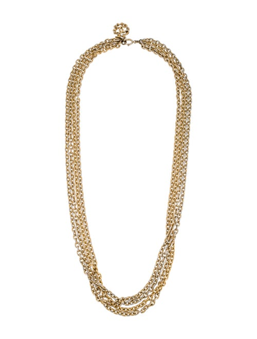 Chanel Vintage Multi-Strand Chain Necklace Gold