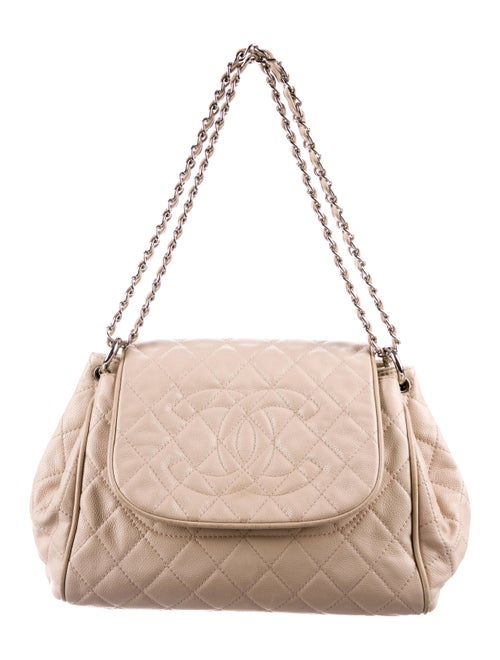 Chanel Timeless Accordion Flap Bag Champagne