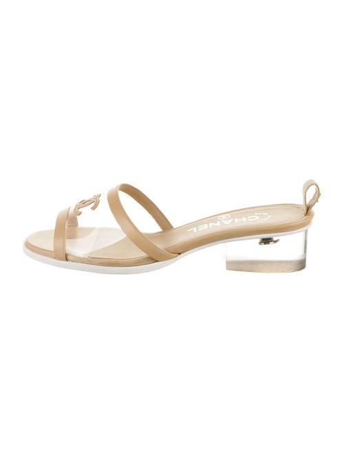 Chanel CC PVC Sandals Clear