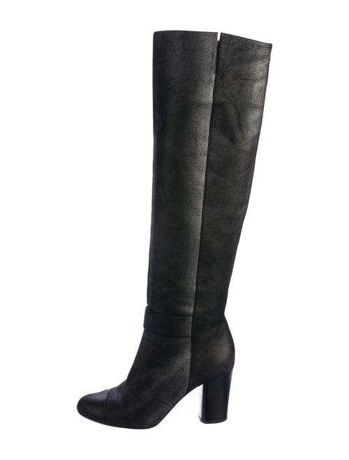 Chanel CC Knee-High Boots Metallic