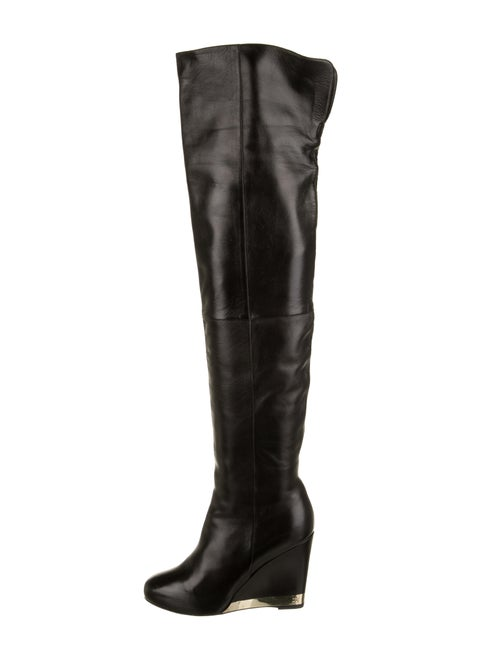 Chanel CC Over-The-Knee Boots Black