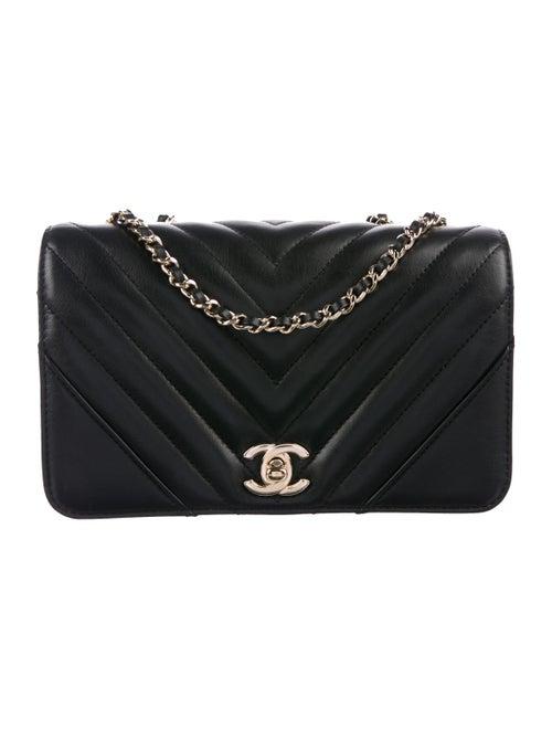 Chanel 2019 Chevron Statement Flap Bag Black