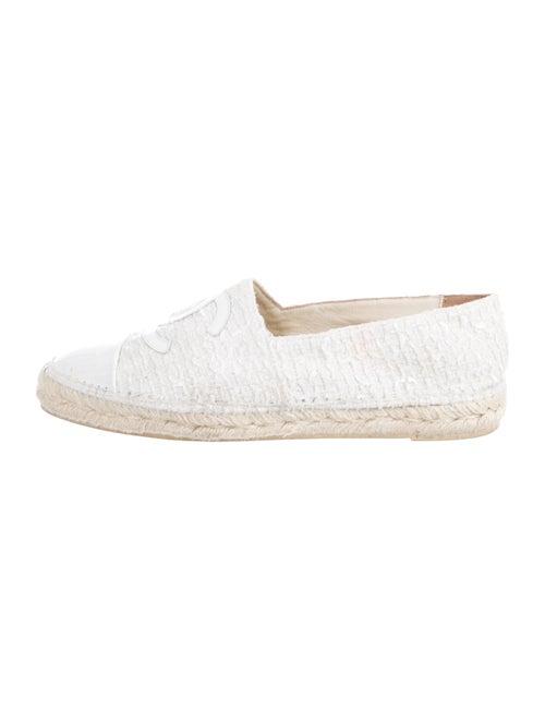 Chanel CC Tweed Espadrilles White