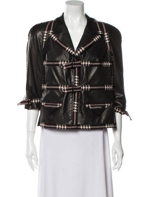 Chanel 2007 Leather Biker Jacket Black