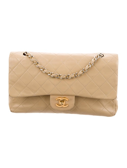 Chanel Vintage Small Double Flap Bag Tan