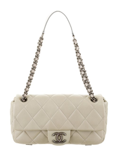 Chanel Quilted Flap Bag Beige