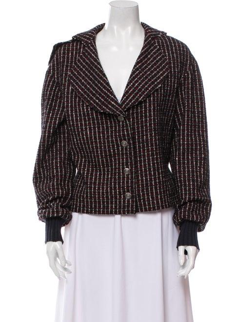 Chanel 2008 Tweed Pattern Jacket Black
