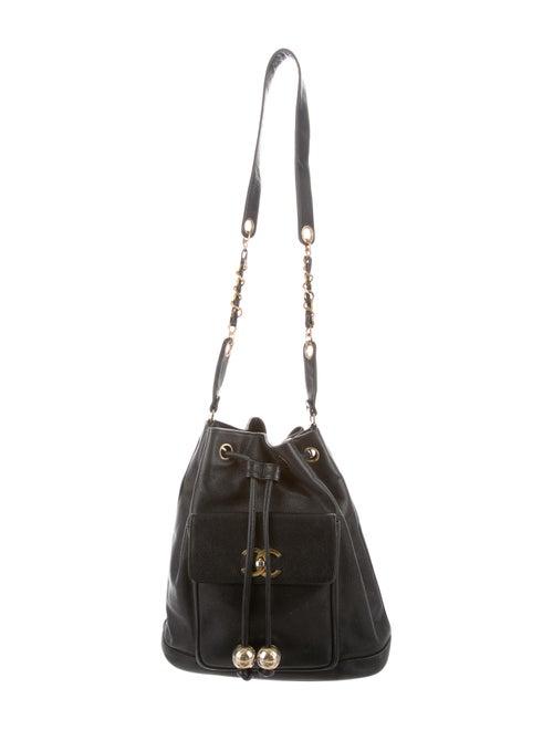 Chanel Vintage CC Bucket Bag Black