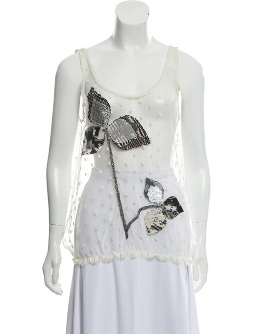 Chanel Sleeveless Tulle Top