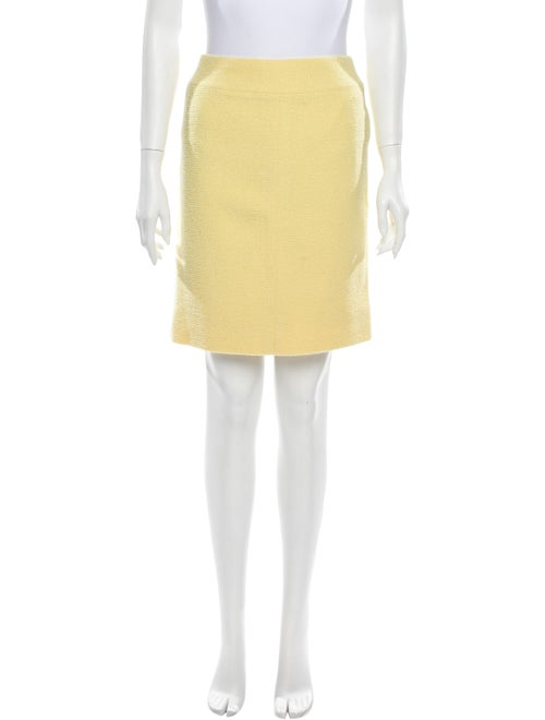 Chanel Vintage Mini Skirt Yellow