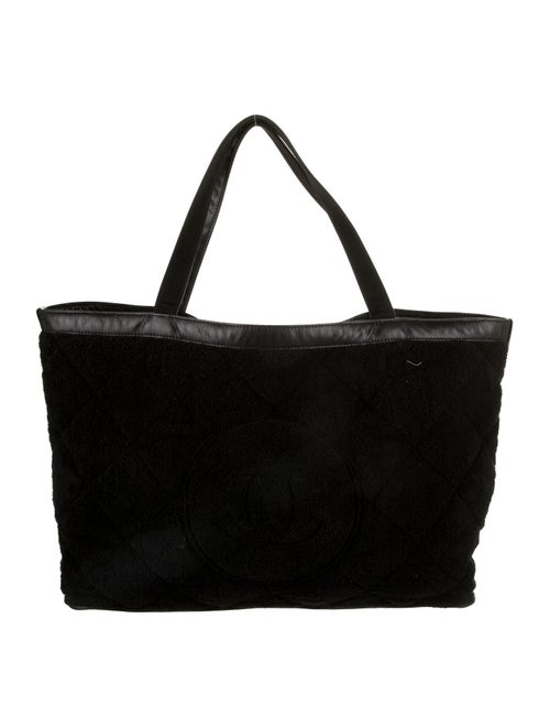 Chanel Terry Beach Tote Black