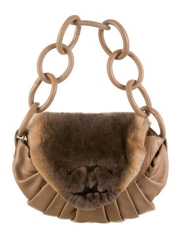 Rabbit Fur Flap Bag