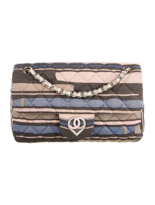 Chanel Quilted Medium Heart Flap Bag Pink