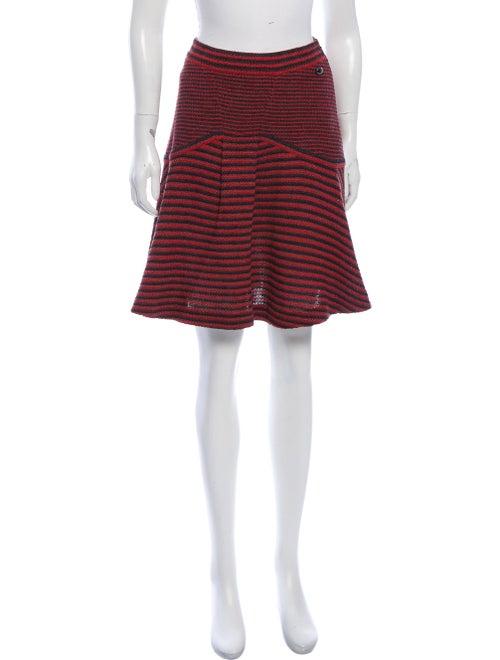 Chanel Striped Knit Skirt
