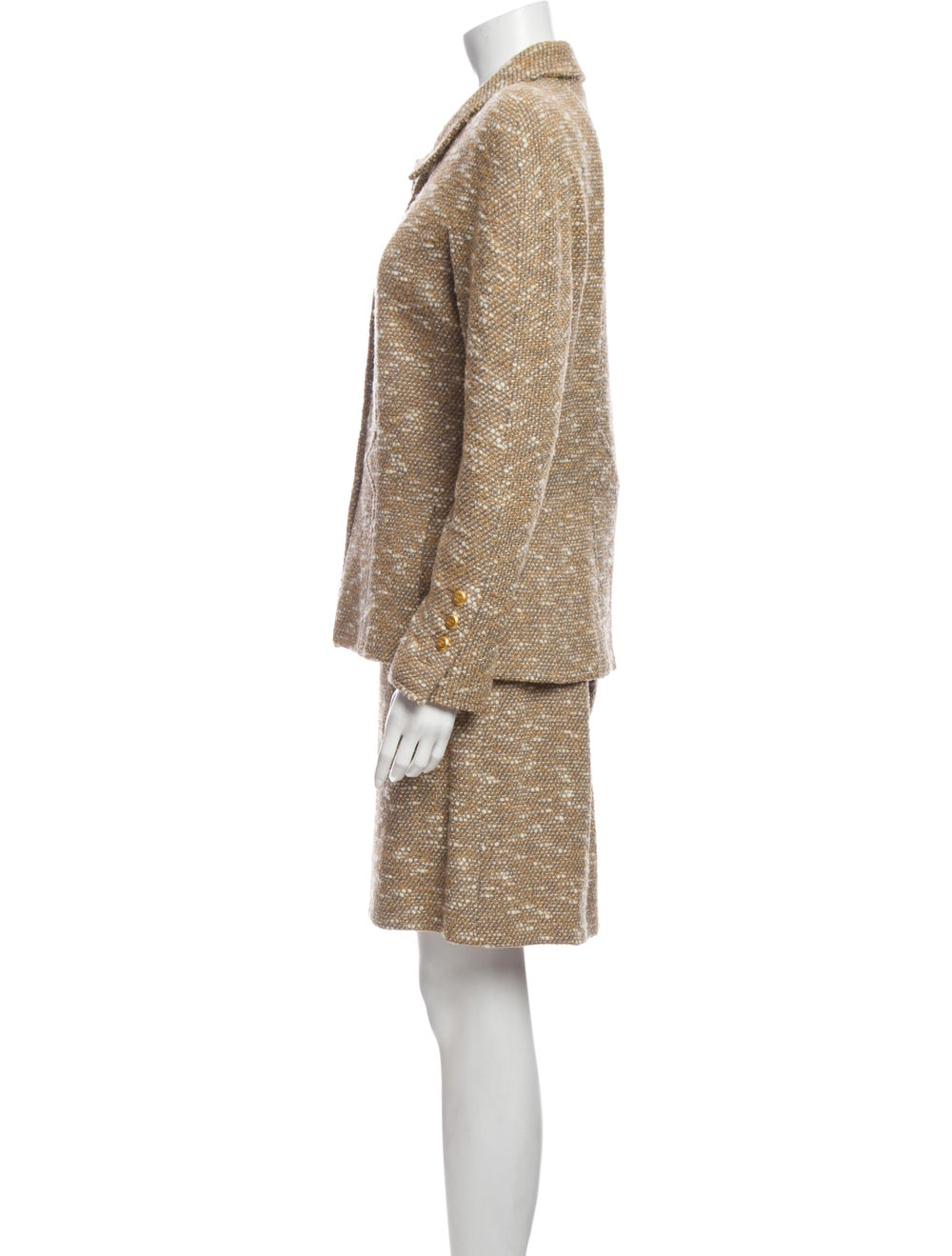 Chanel 1996 Wool Skirt Suit Wool - image 2