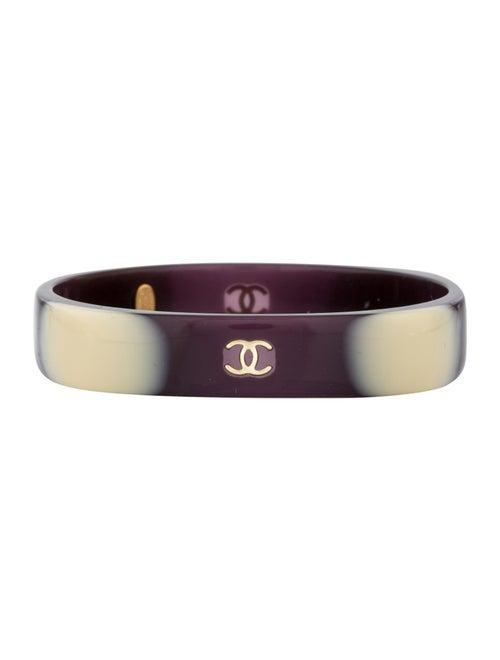 Chanel Resin CC Bangle gold