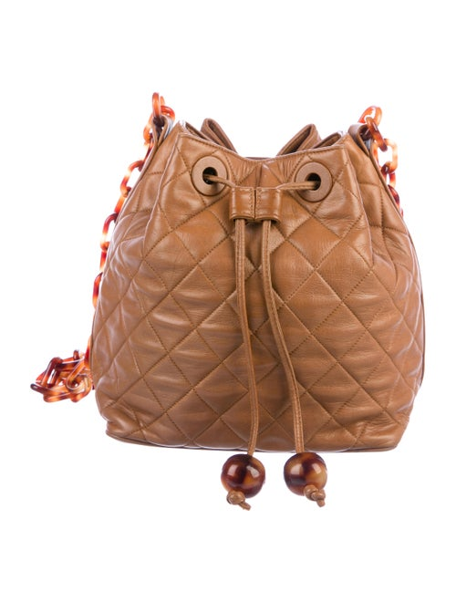 Chanel Vintage Quilted Bucket Bag