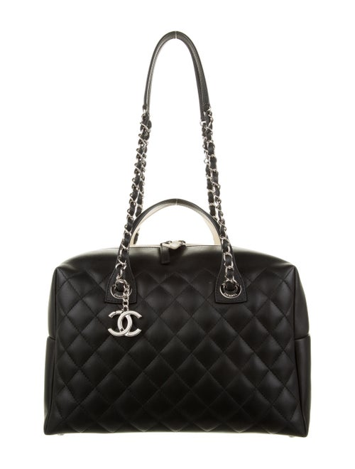 Chanel Feather Weight Bowling Bag Black
