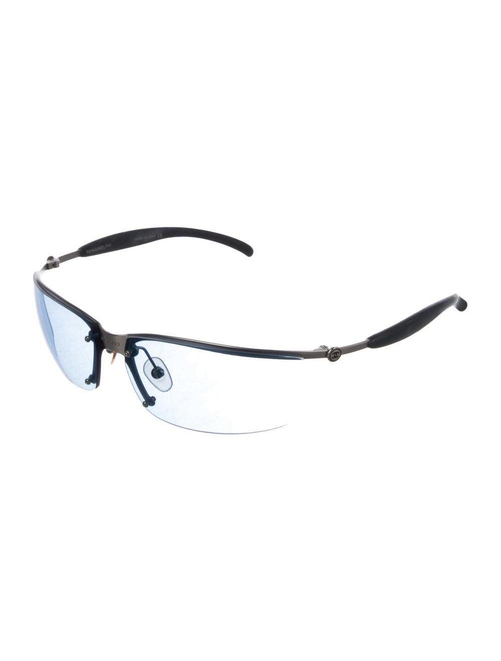 Chanel Rimless CC Sunglasses Grey - image 2