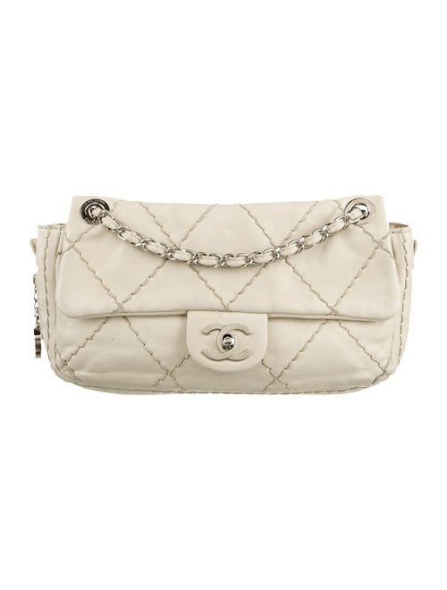 Chanel Ultimate Stitch Flap Bag silver