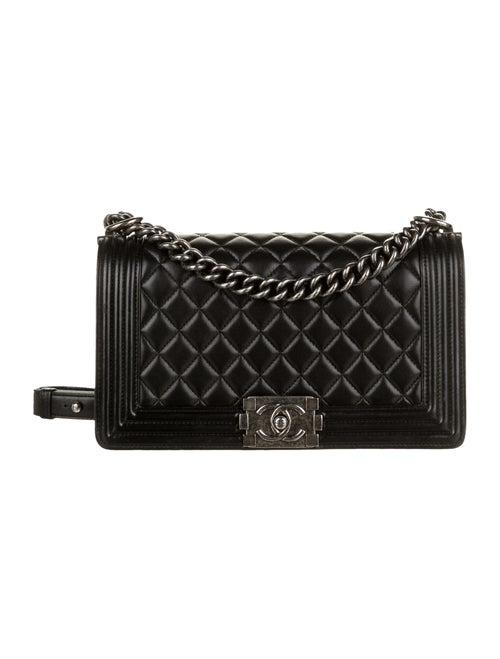 Chanel Medium Quilted Boy Bag Black