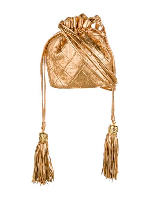 Chanel Vintage Mini Bucket Bag Metallic