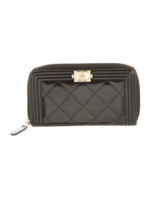 Chanel Boy L-Gusset Wallet Black
