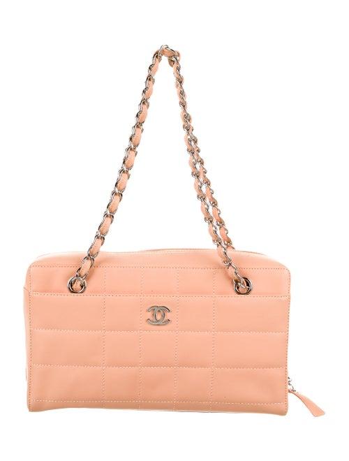 Chanel Square Quilt Shoulder Bag silver
