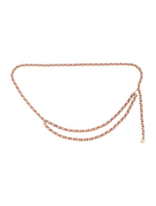 Chanel CC Chain-Link Belt Pink