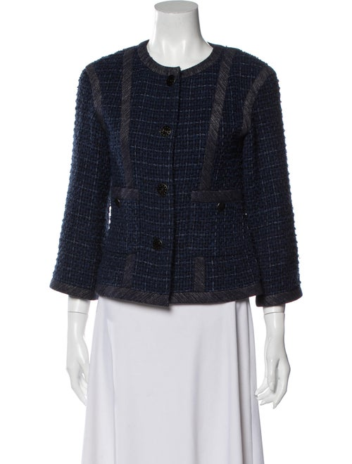 Chanel 2013 Tweed Pattern Evening Jacket Blue