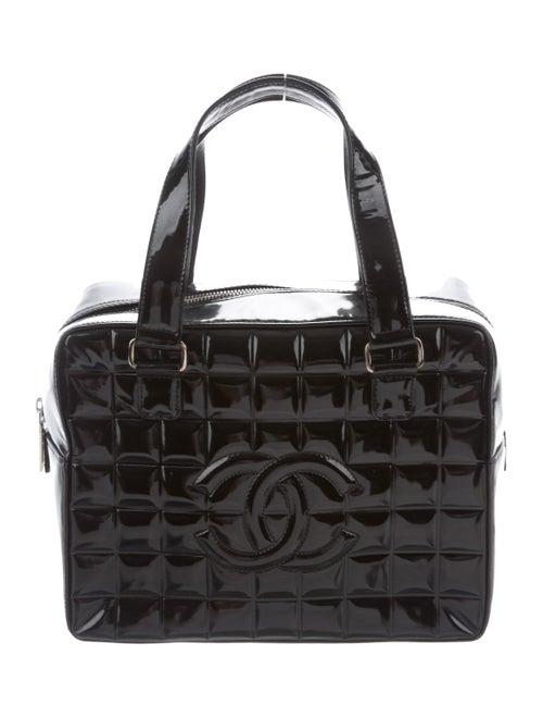 Chanel Small Chocolate Bar Bowler Bag Black