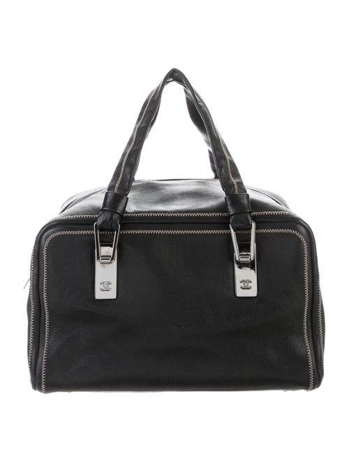 Chanel Lambskin Bowler Bag Black