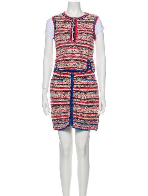 Chanel 2017 Tweed Pattern Skirt Set Pink - image 1