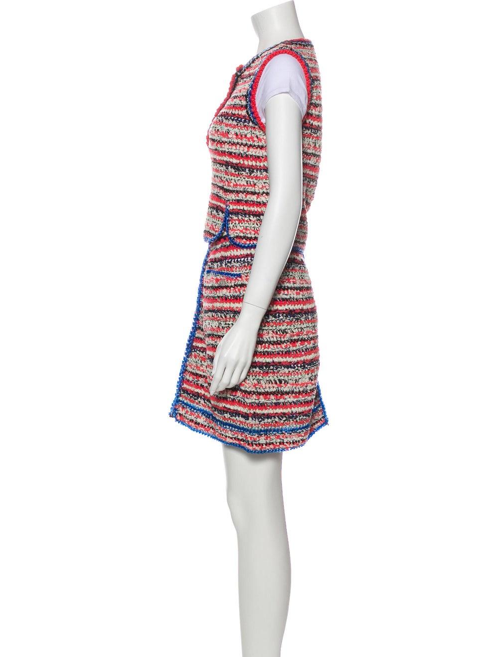 Chanel 2017 Tweed Pattern Skirt Set Pink - image 2