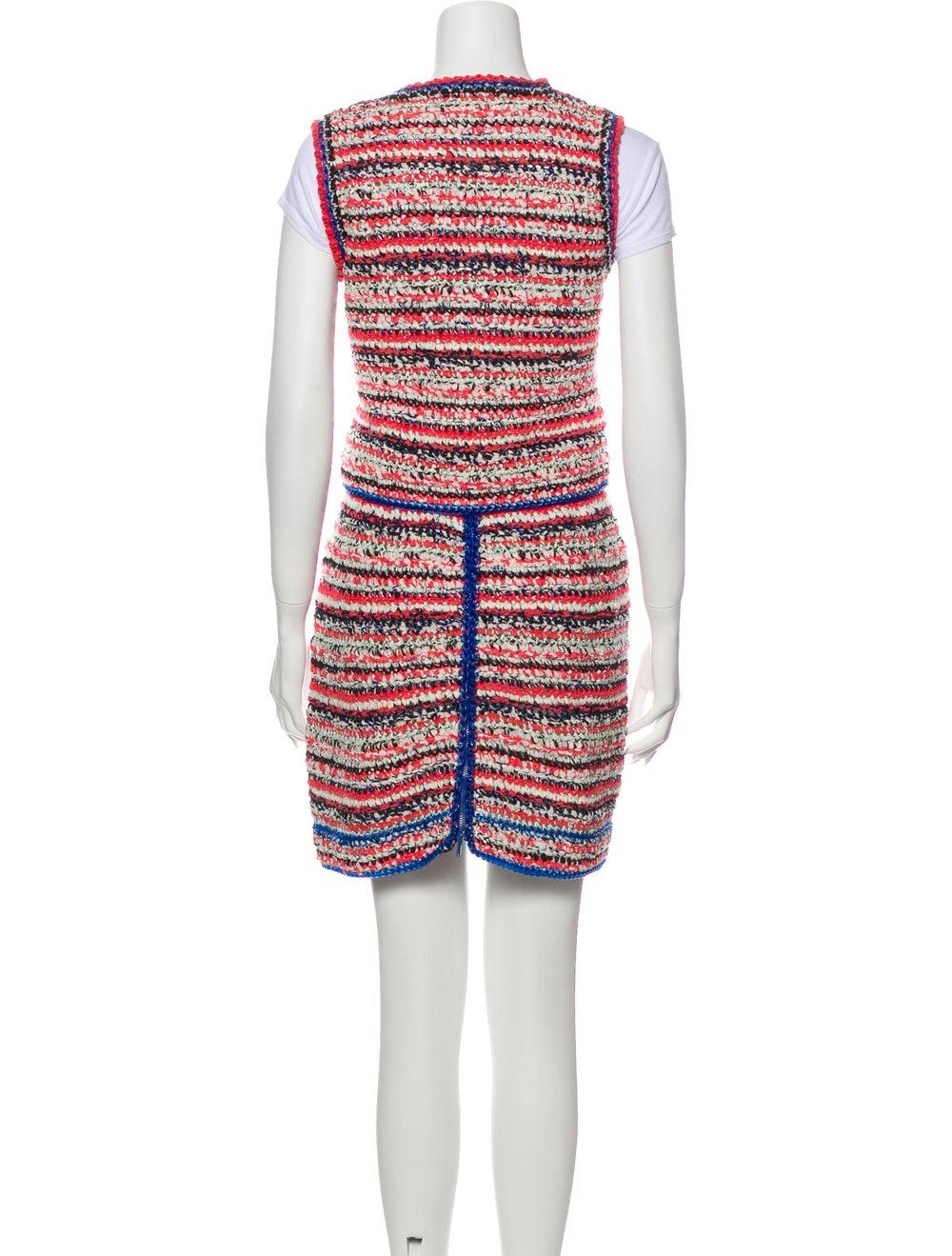 Chanel 2017 Tweed Pattern Skirt Set Pink - image 3