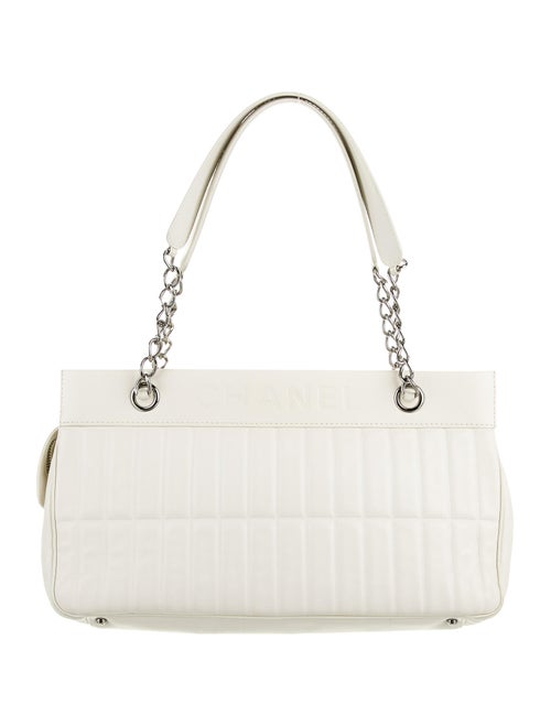Chanel LAX Vertical Quilt Bag White