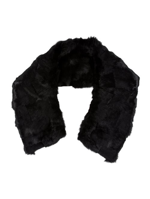 Chanel Dyed Fur Stole Black