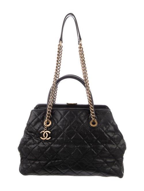 Chanel Caviar Frame Bag Black