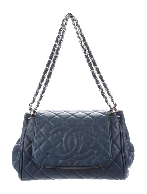 Chanel Timeless Accordion Flap Bag silver