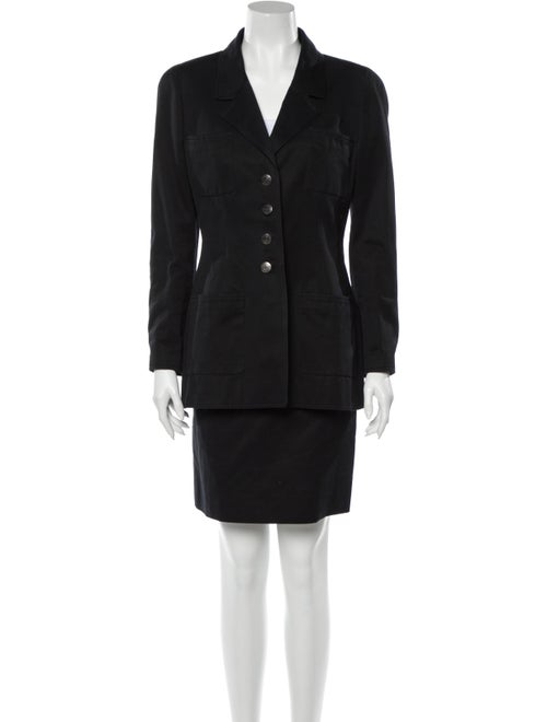 Chanel Vintage 1997 Skirt Suit Black