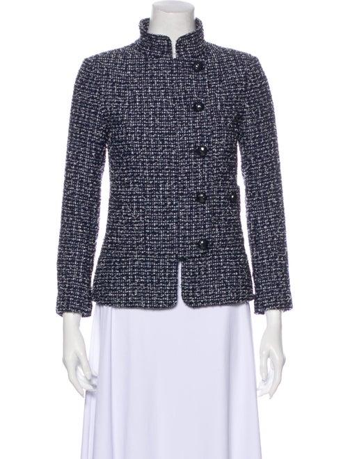 Chanel 2015 Tweed Pattern Evening Jacket Blue