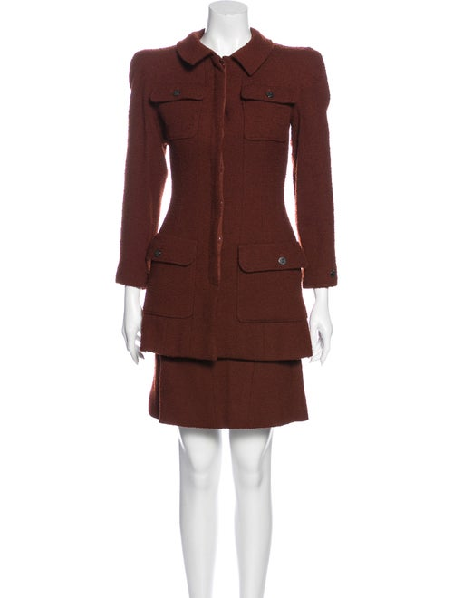 Chanel 1997 Wool Skirt Suit Wool