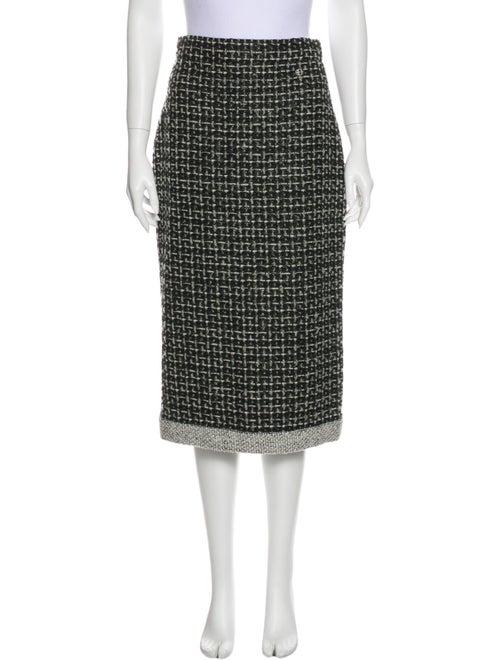 Chanel 2017 Midi Length Skirt Black