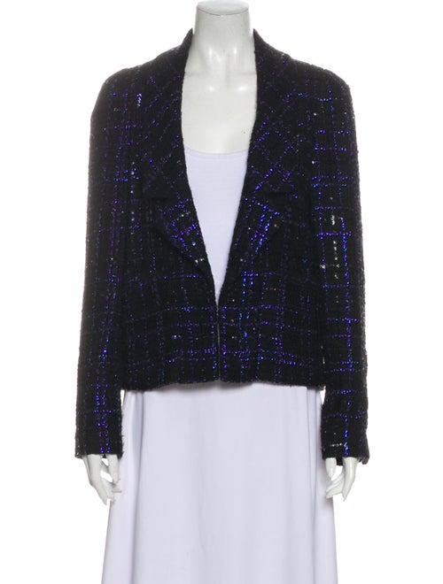 Chanel 2016 Tweed Pattern Evening Jacket Black