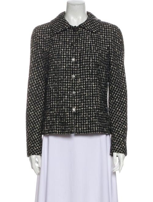 Chanel 2010 Tweed Pattern Evening Jacket Black