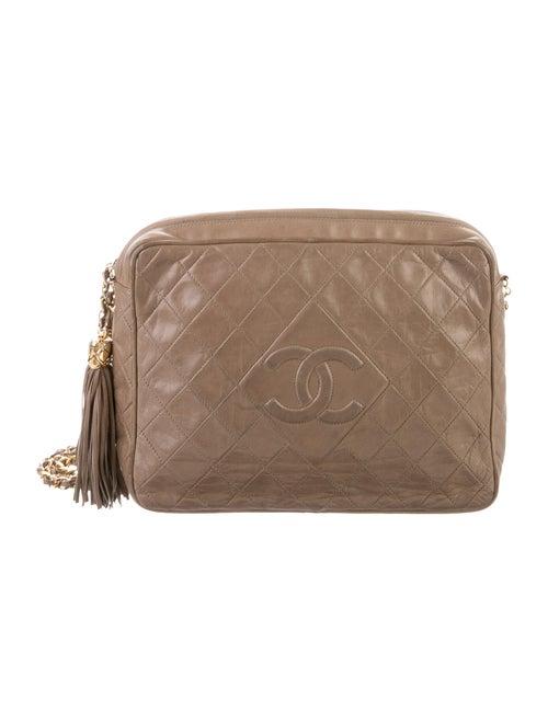 Chanel Vintage Quilted Camera Bag gold